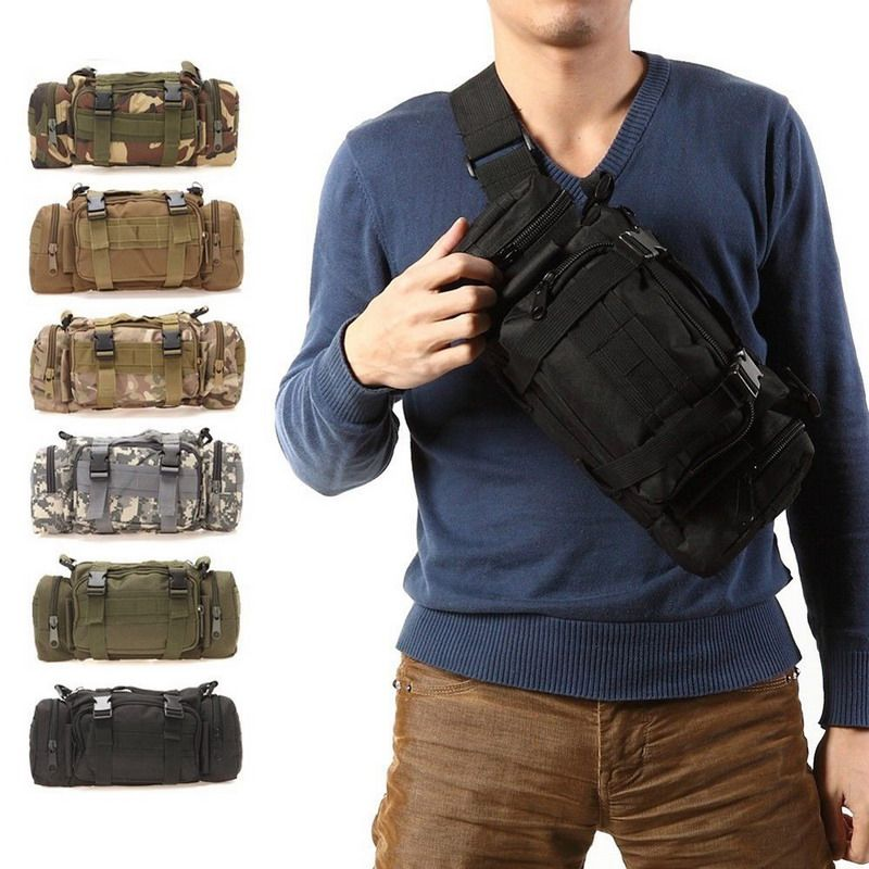 3L Tactical Bag Sport Bags 600D Waterproof Oxford Military Waist <font><b>Pack</b></font> Molle Outdoor Pouch Bag Durable Backpack forCamping Hiking