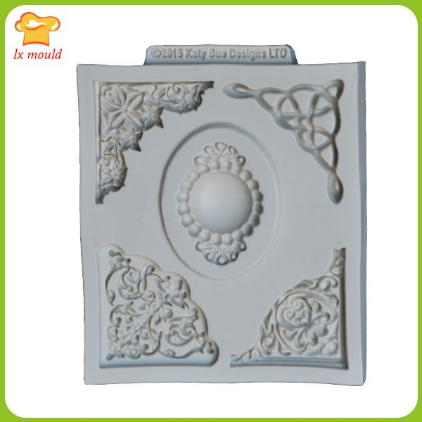 LXYY Mould Lace silicone mold  silicone cake mold  embossed fondant mold  mold sugar Arts