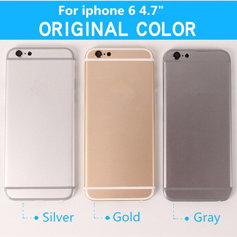 Marke Neue Für iPhone 6 4,7 ersatz Chassis Zurück Gehäuse Rückseitige Abdeckung Mit Tasten & Sim Fach Qualität + Kostenlose Tools