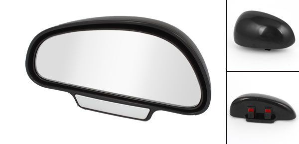 Vehicle Car Black Plastic Right Left Side Adjustable Rearview Blind Spot Mirror