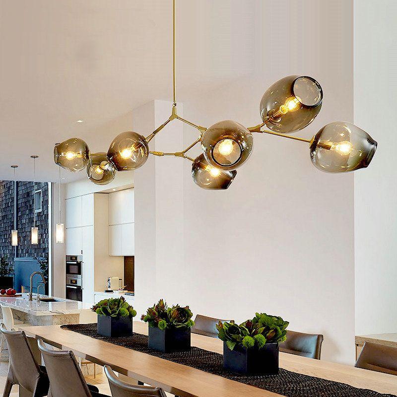Lindsey Vintage Loft Industriependelleuchten Gold Bar Treppen Esszimmer Glasschirm Retro adelman Pendelleuchte Leuchten