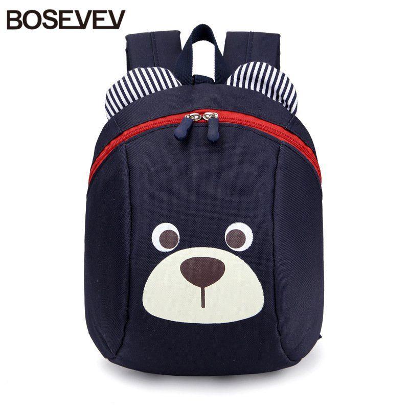 Sacs à dos en Nylon pour enfants de 1 à 3 ans Anti-perte Design Mini sac à dos cartable enfants sacs d'école maternelle fille garçons sac à dos