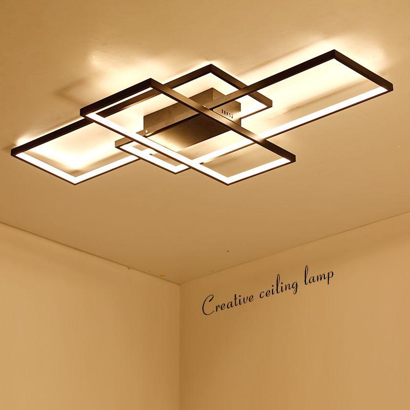NEO GLeam New Black or White Aluminum Modern Led Chandelier For Living Room Bedroom Study Room AC85-265V Ceiling Chandelier