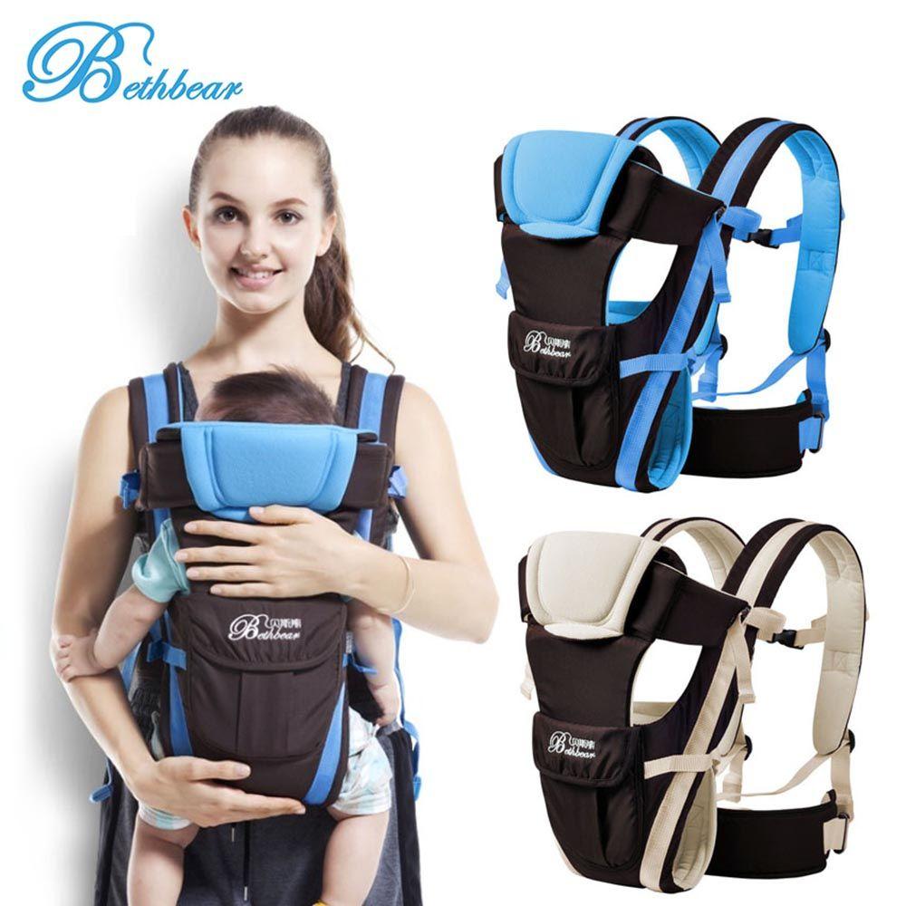 Beth Bear 0-30 mois porte-bébé respirant face avant 4 en 1 infantile confortable sac à dos à bandoulière pochette Wrap bébé kangourou