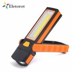 1 unids ajustable Super brillante COB LED trabajo luz lámpara de inspección mano antorcha magnética camping tienda linterna con gancho imán