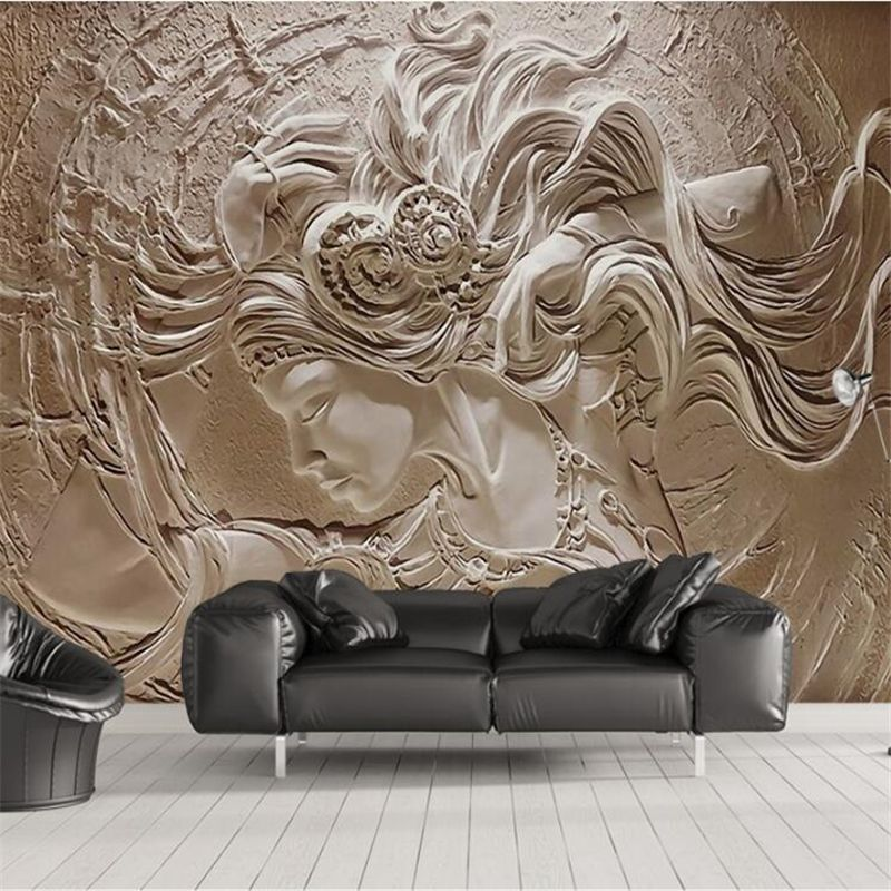 Beibehang пользовательские обои 3D трехмерная рельеф красоты фоне стены картины фото обои Carta Da Parati