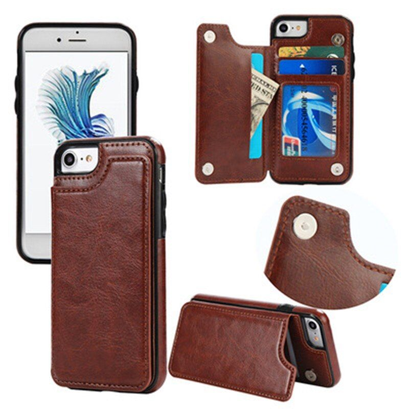 Retro PU Leather Case For iPhone 6 6s 7 Plus Card Holders Cover cases For iPhone X 8 7 6 6s Plus Leather Wallet Case