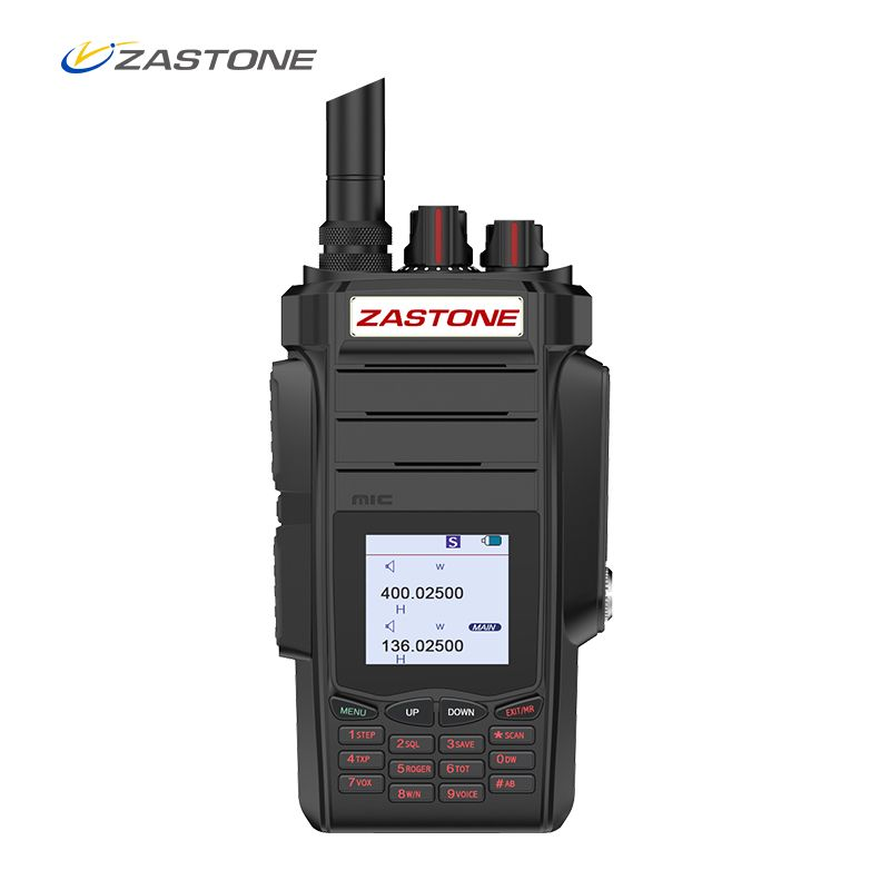 Professional Two-way Radio ZASTONE A19 Portable Walkie Talkie UHF VHF 10W 2800mAh 999CH Ham Radio Communicator Transmitter
