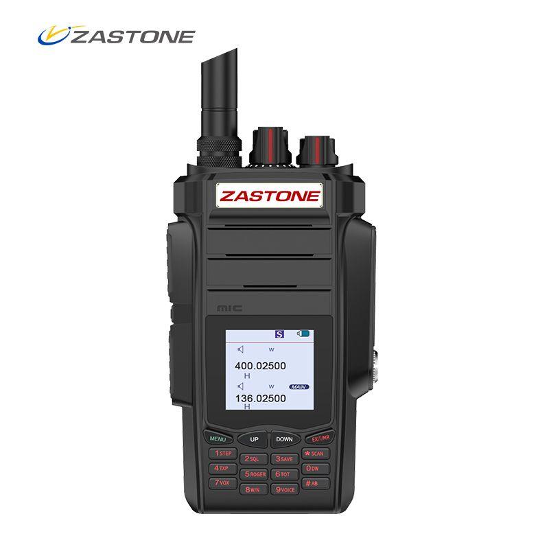 Professional Two-way Radio ZASTONE A19 Portable Walkie Talkie UHF VHF 10W 2800mAh 999CH Ham Radio Communicator Transmitter