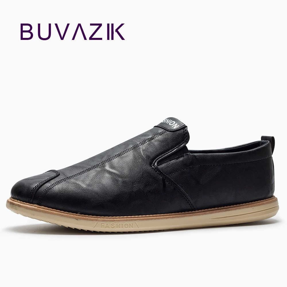 BUVAZIK 2018 hot sell men's loafers comfy drivings shoes soft leather moccasins spring slip-on casual shoes men flats fashion