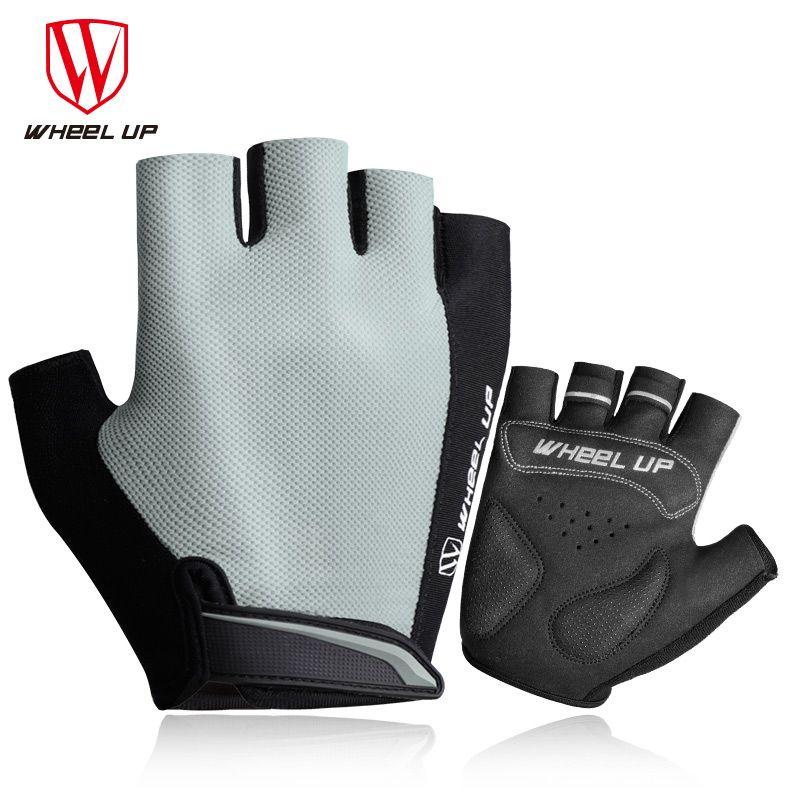 Колеса до велосипедные перчатки половину палец дышащая мягкая противоударный горный велосипед перчатки мужские и женские удобные спортив...