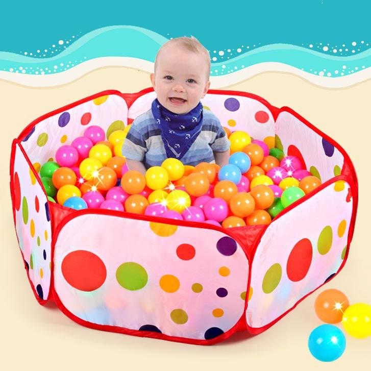 50 pcs boules + Extérieur/Intérieur Bébé de Parcs Pour Enfants Pliable Enfants Océan Piscine À Balles Fosse Activité et vitesse Jouet Clôtures 1 M 1.2 M 1.5 M