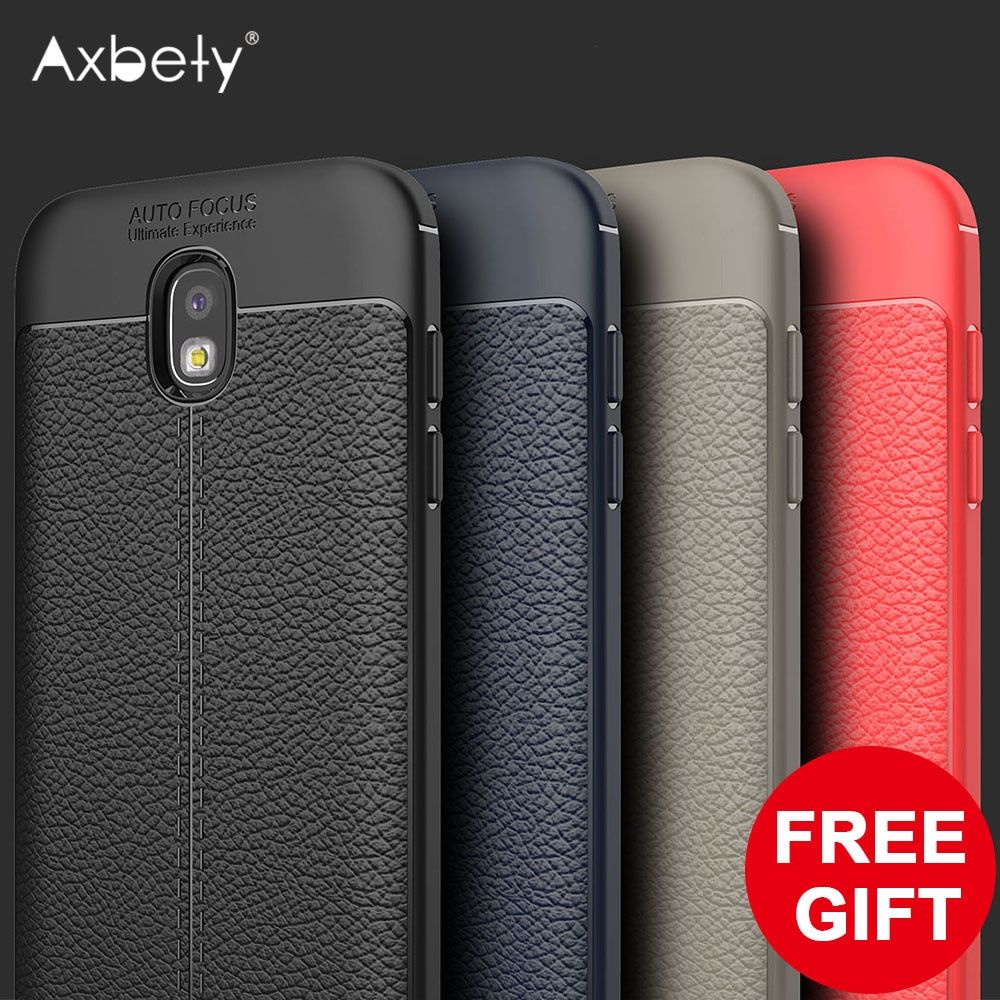Axbety For Samsung J5 2017 Case EU Luxury Ultra Slim Litchi Cover For Galaxy J5 Pro 2017 J530 Soft Silicon Shockproof Phone Case