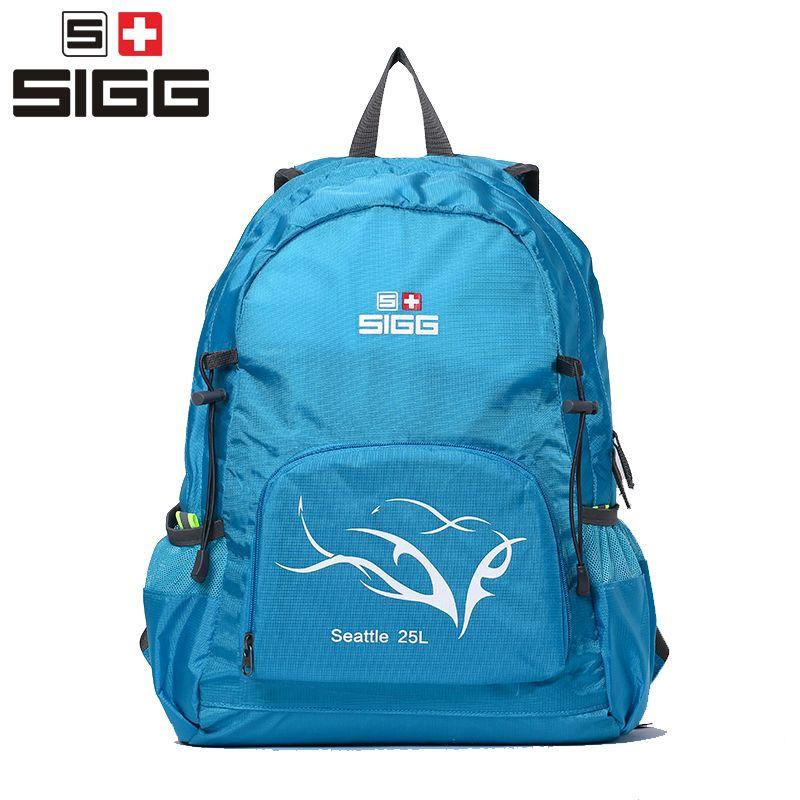 SIGG 25L hiking backpack men women skin package super light  folding waterproof travel light backpack outdoor bag shoulder bag