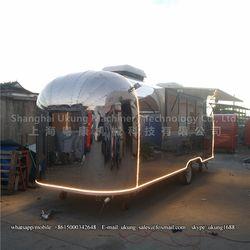 AST-210, 680 cm, acero inoxidable corriente remolque, remolque alimentos, cocina móvil camión de alimentos
