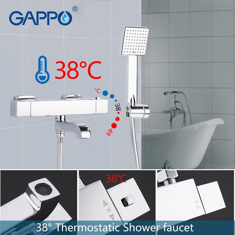 GAPPO bathtub faucet basin waterfall bathroom faucet wall mounted mixer tap thermostatic rainfall bathtub faucets
