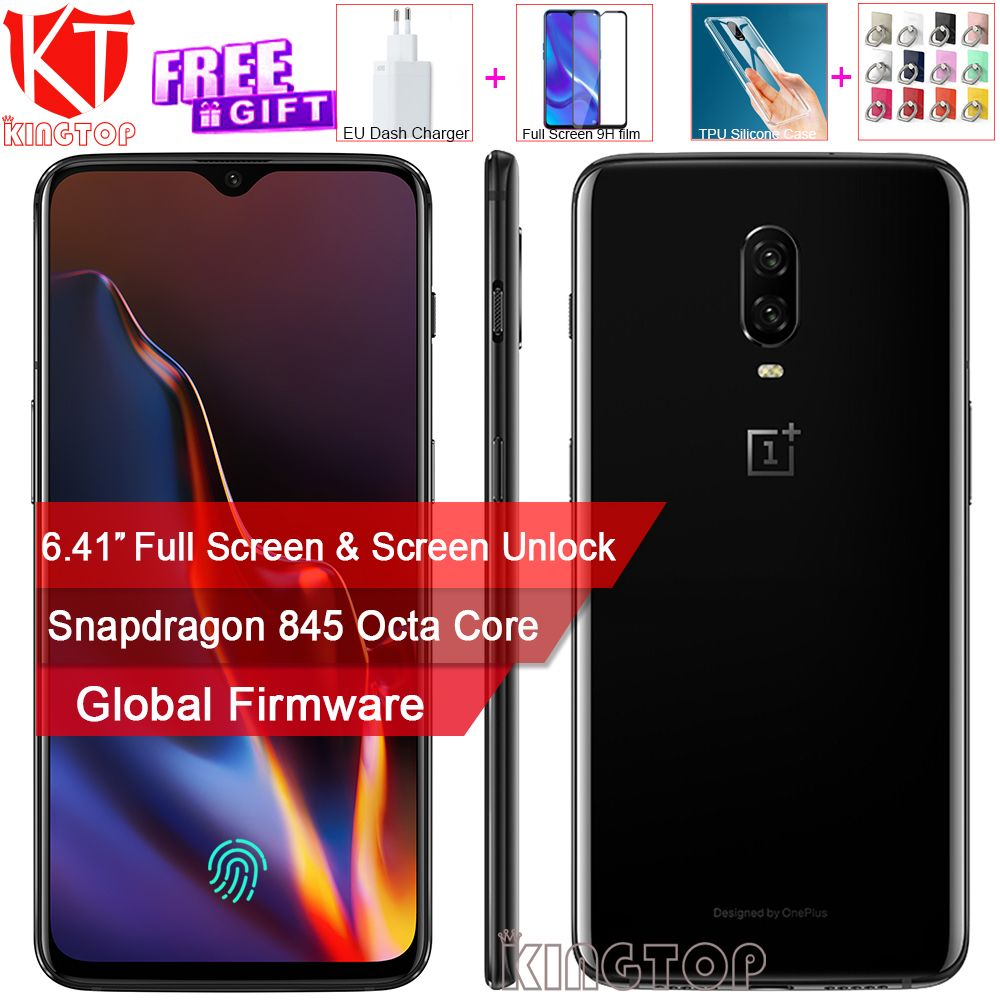 New original Oneplus 6T Mobile Phone 6GB RAM 128GB ROM Snapdragon 845 Octa Core 6.41