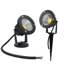 10 Buah Paku Lanskap COB 3 W 5 W 7 W 9 W Kolam LED Kebun 12 V 110 V 220 V Pemandangan Spike Lampu untuk Taman