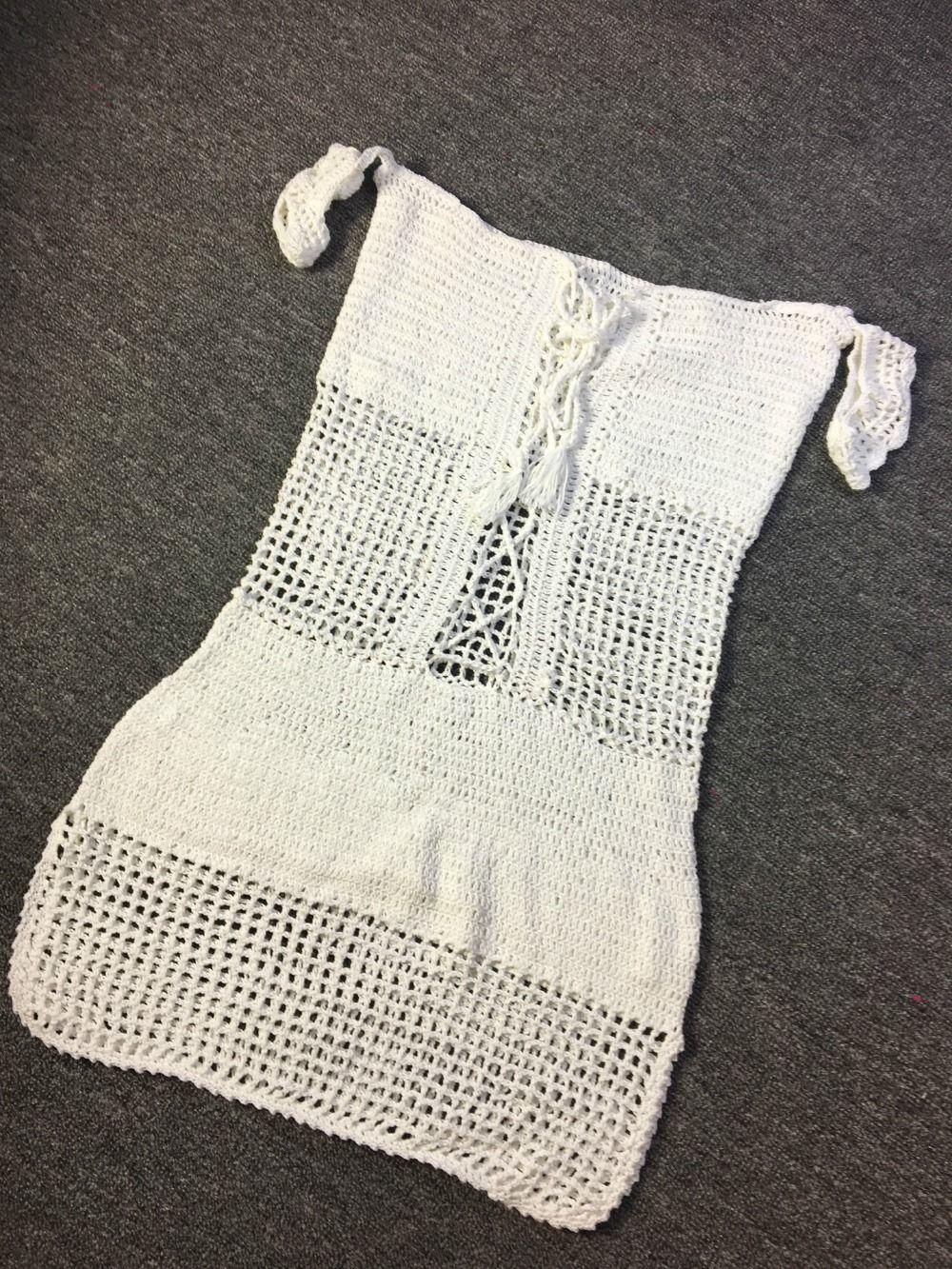 2017 Off Shoulder Beach Cover Ups Knit Handmade