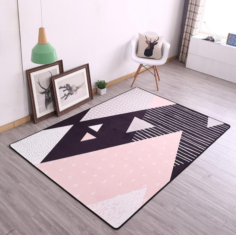 INS Europäischen 100 x160cm Beliebte Verdicken Weiche Kinder Zimmer Spielen Matte Moderne Schlafzimmer Teppiche Große Rosa Teppiche für Wohnzimmer zimmer