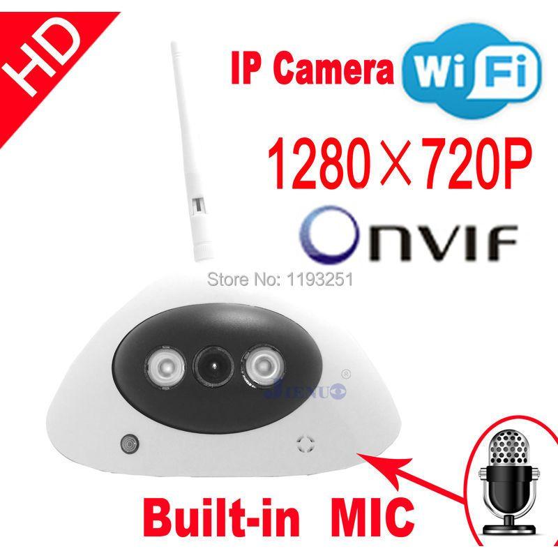 Livraison gratuite caméra IP HD audio onvif caméras de vidéosurveillance cmos infrarouge 720 P wifi systèmes vidéo sans fil sécurité maison intérieure