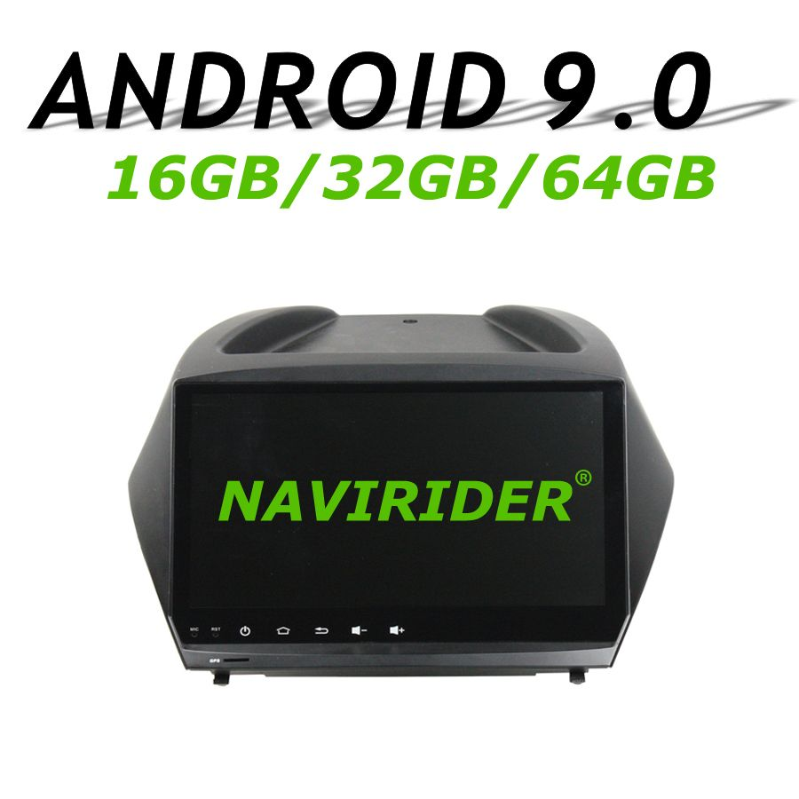 Navirider GPS navigation Für Hyundai Tucson 2011 9 full touch screen Auto android 9.0 64 gb rom radio bluetooth-player stereo