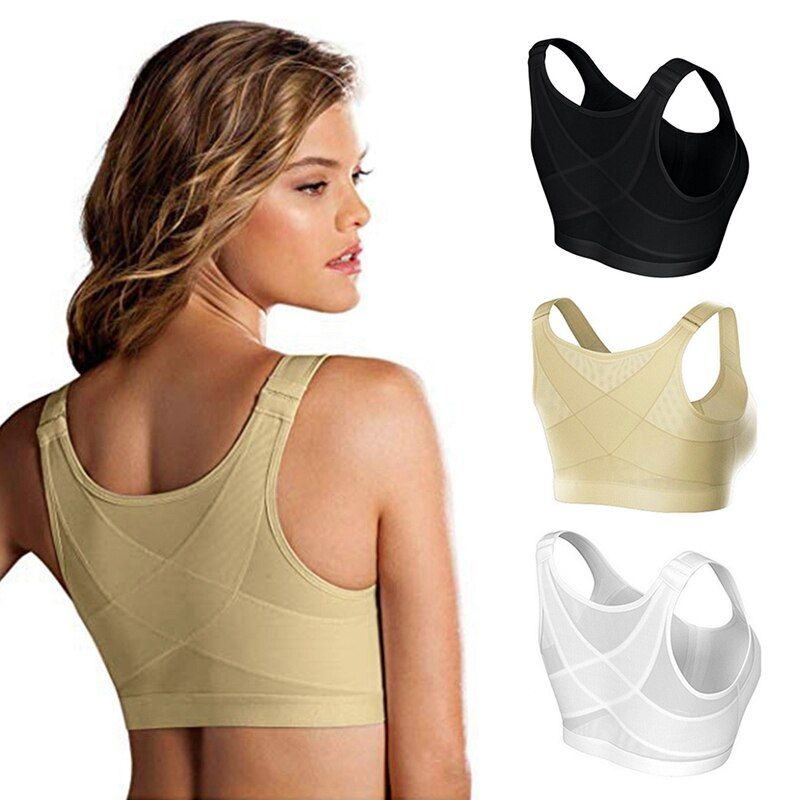 Posture Corrector Lift Up Bra Women New Cross Back Bra Breathable Underwear Shockproof Sports Support Fitness Vest Bras