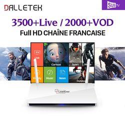 Dalletektv Leadcool Intelligent Android 6.0 TV Box 1 Année SUBTV IUDTV QHDTV IPTV Abonnement Europe Espagne ROYAUME-UNI Français Arabe IPTV boîte