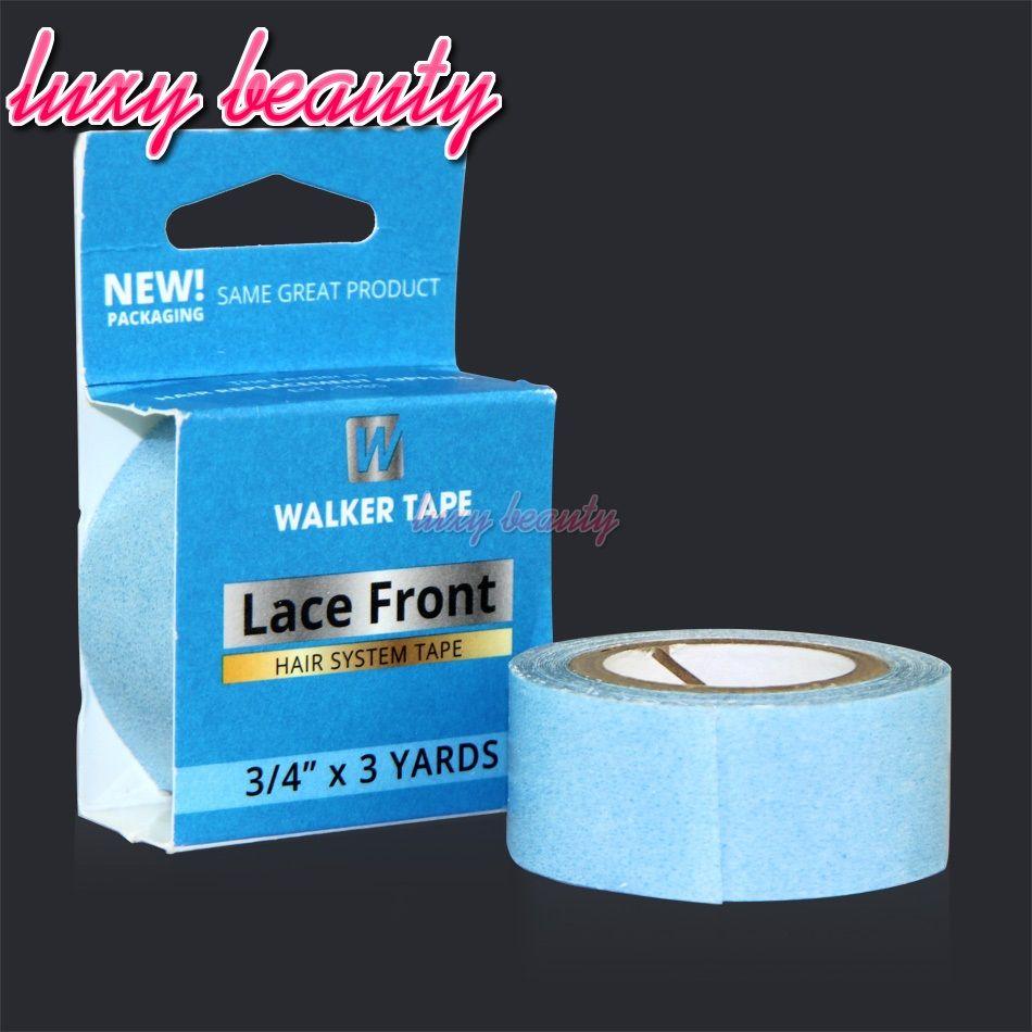 Super Lace Frontal pelucas cinta de pegamento para el pelo 12 yardas 1,9 cm Adhesivos Cinta de cinta adhesiva para la cinta en la piel Trama Extensiones de cabello Pegamento