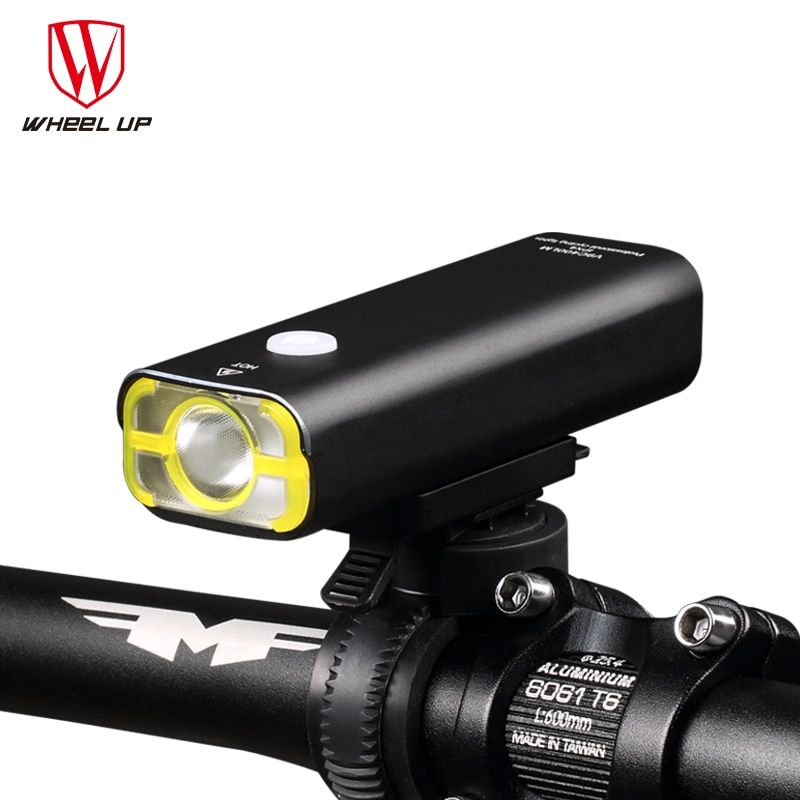 WHEEL UP Usb <font><b>Rechargeable</b></font> Bike Light Front Handlebar Cycling Led Light Battery Flashlight Torch Headlight Bicycle Accessories