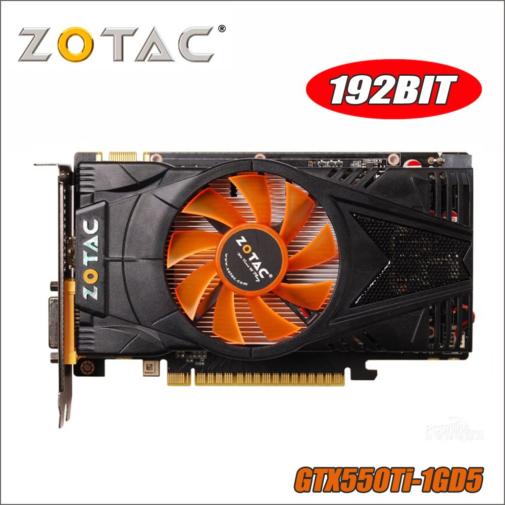 Used ZOTAC Video Card GeForce GTX 550 Ti 1GB GDDR5 Graphics Cards for nVIDIA Map GTX550Ti Internet Cafes GTX 550TI 1GD5 Dvi VGA