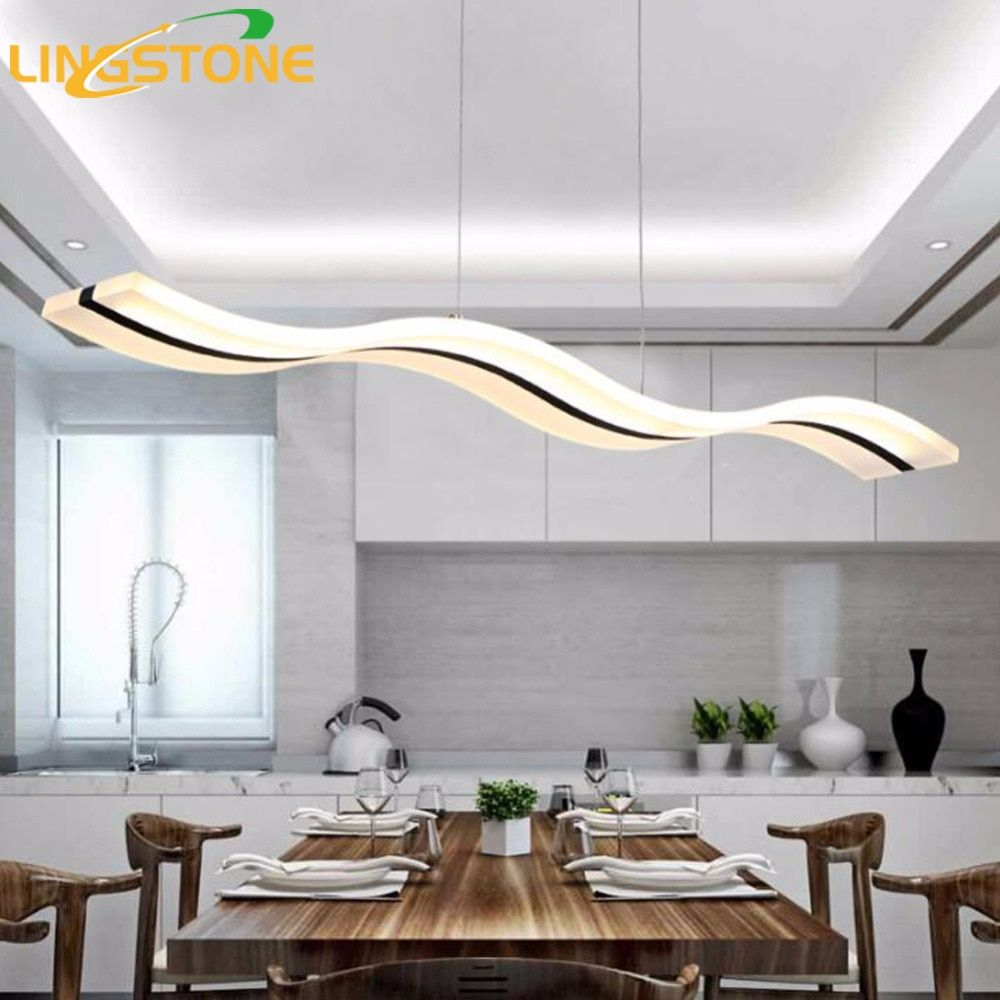 Modern Pendant Lights Kitchen Living Dinging Room Light Fixtures LED Hanging Lamp Luminaires Dimmable With Control AC90-260V