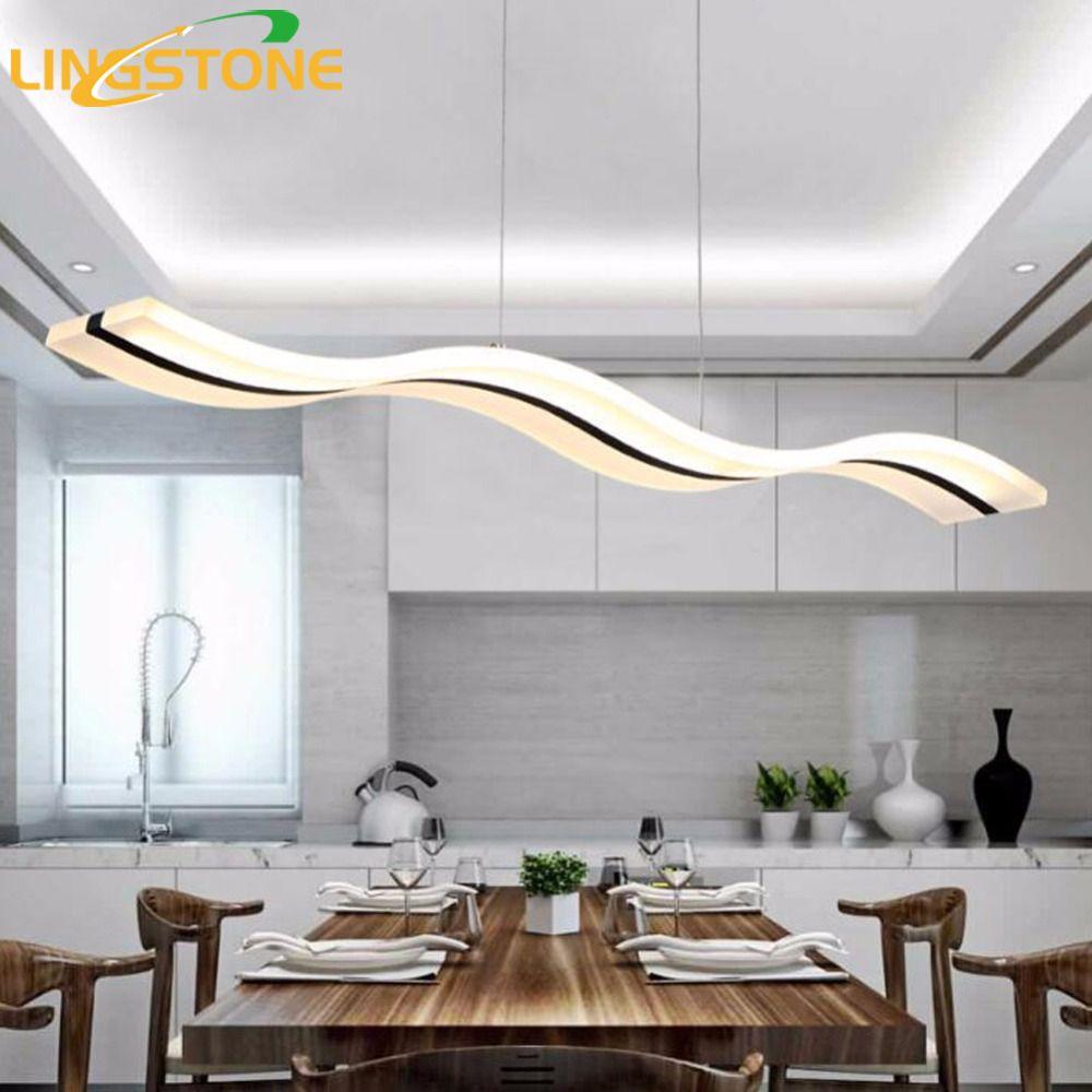 Moderne Anhänger Lichter Küche Wohnzimmer Dinging Zimmer Leuchten LED Hängen Lampe Leuchten Dimmbar Mit Control AC90-260V