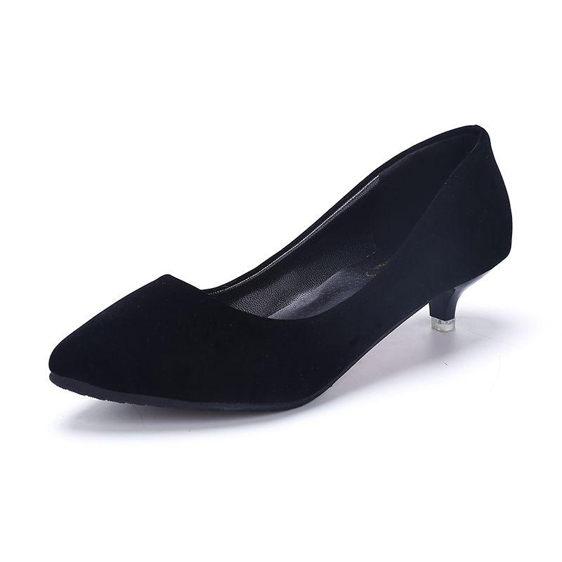 2017 Zapatos de Las Mujeres Bombas de Punta estrecha Suede Ocio Zapatos de Vestir Tacones Altos de Boda Del Barco de tenis femenino Mate 3 cm Mary Janes