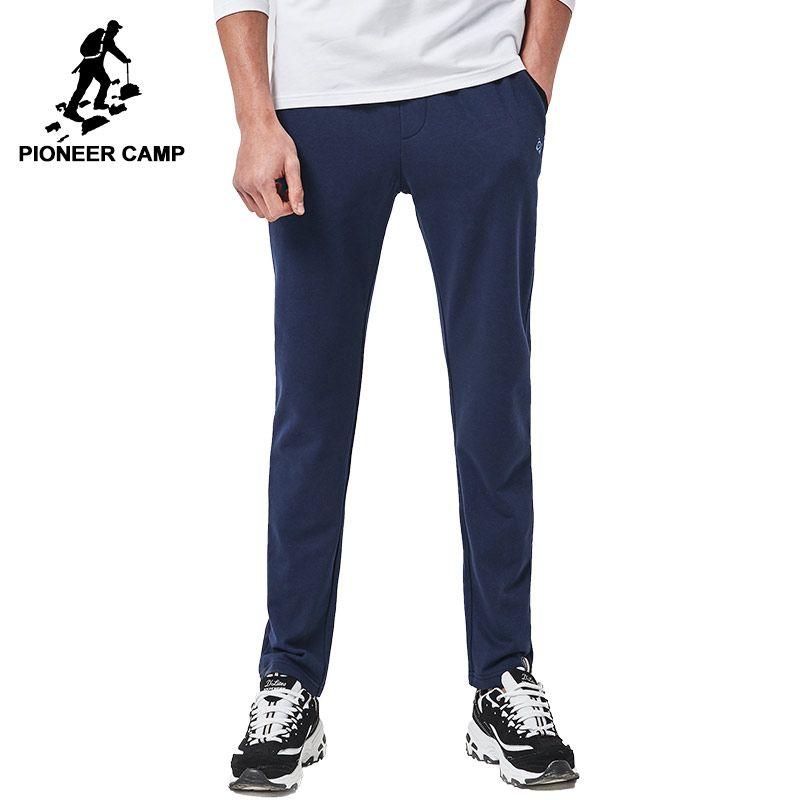 Pioneer Camp Neue ankunft Frühjahr casual hosen männer marke kleidung trainingshose männlichen top-qualität hosen tiefblaue grau AZZ701003