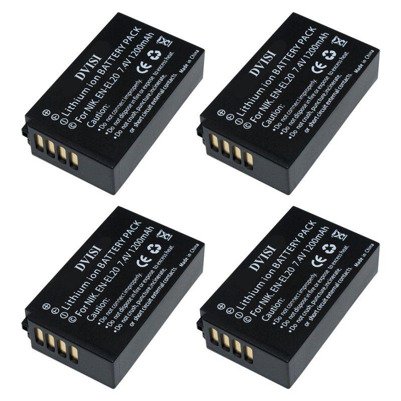 4 teile/los 7,4 V 1.2Ah EN-EL20 EN EL20 ENEL20 Wiederaufladbare Kamera Batterie für Nikon EN-EL20a 1 J1 J2 J3 S1 digital Kamera