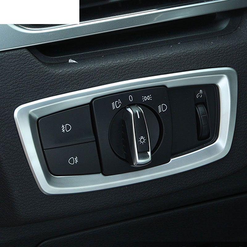 Для BMW X1 F48 2016 2017 ABS Матовый Хром головной свет фар кнопка включения обложки отделкой автомобиля Интимные аксессуары Наклейки
