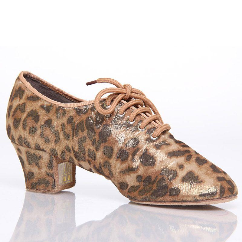 Sports Dance Shoes Adult Jazz Women Shoes Aerobics Dancing Sneakers Teacher BD T1-B Discounts Shoe Leopard Grain Import Satin