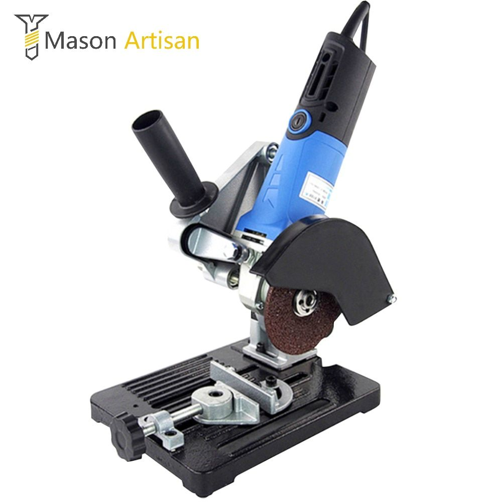 Universal Angle <font><b>Grinder</b></font> Support <font><b>Grinder</b></font> Holder Stand Electric Woodworking Tools Cutting Machine Power Tool Accessories Bulgarian