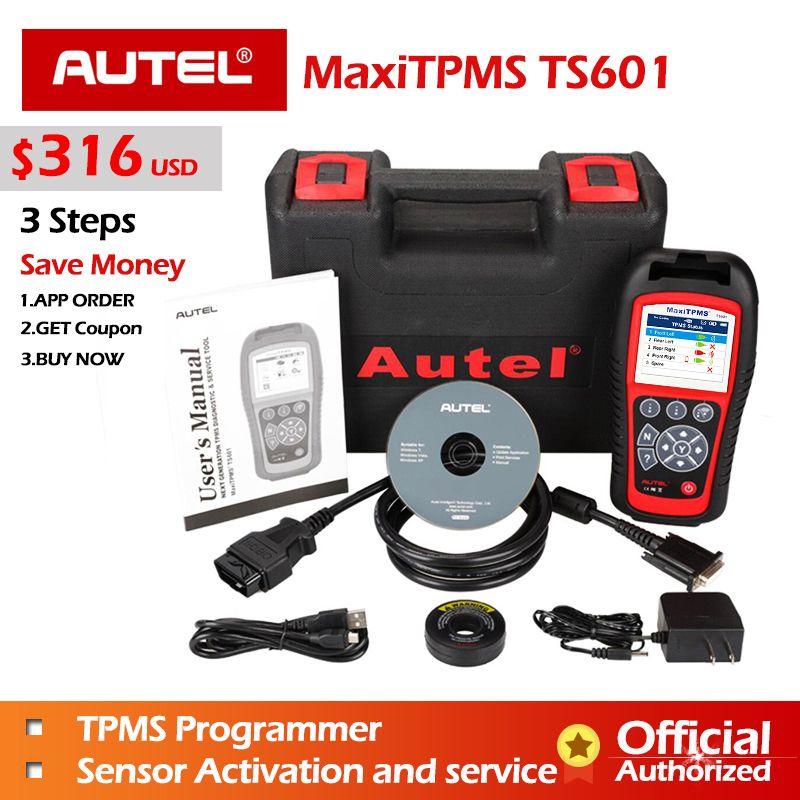 AUTEL MaxiTPMS TPMS TS601 TS401 Diagnostic Tool PAD MX sensor Programming Tool MX-sensor 433 315 OBD2 Scanner Automotive Scanner