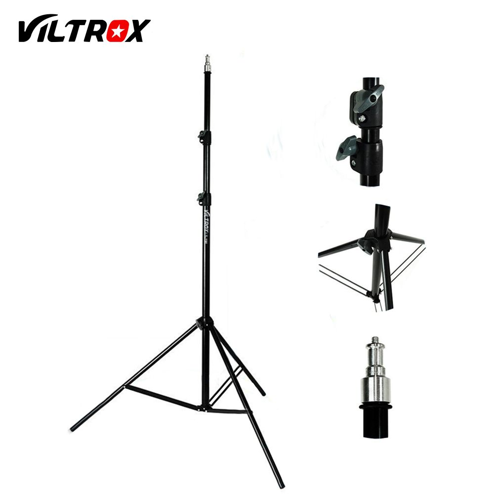 Viltrox 2M Light Lamp Stand Tripod with 1/4 Screw Head for Photo Studio Softbox Video Flash Umbrella Reflector Lighting