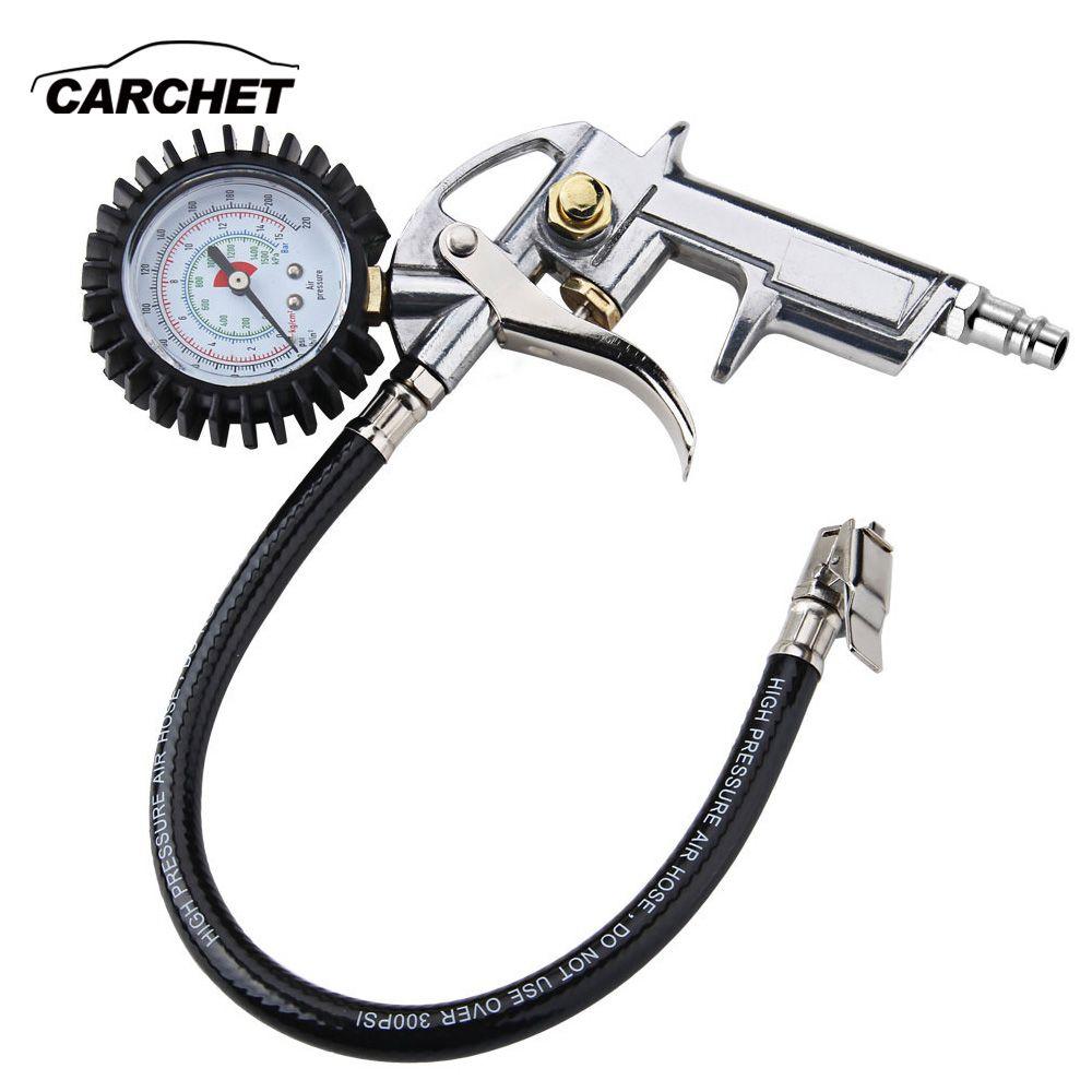 CARCHET manomètre numérique haute précision pour voiture moto SUV pompes gonflées dégonflées outils de réparation de pneus pistolet à pression