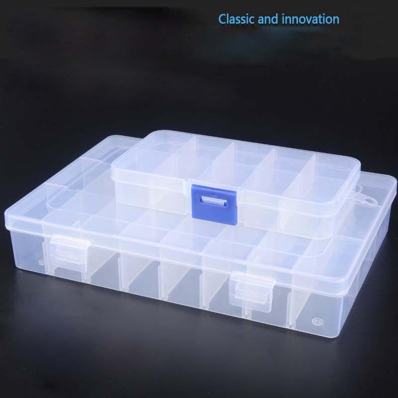 2 шт. электронных компонентов коробка Наборы гаек и болтов коробка для хранения можно разделить аксессуары для Box винт патч компоненты ювели...