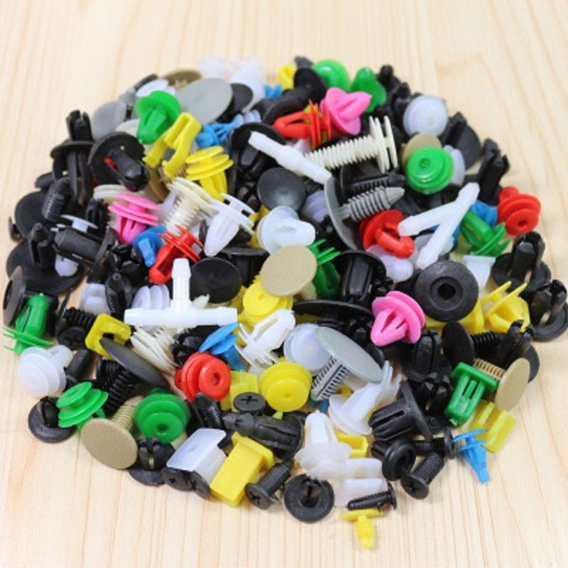 CHIZIYO 500pcs Mixed variety Universal Auto Clip Vehicle Door Fastener Buckle Car Interior Trim Card Panel Fixed Clamp Plastic