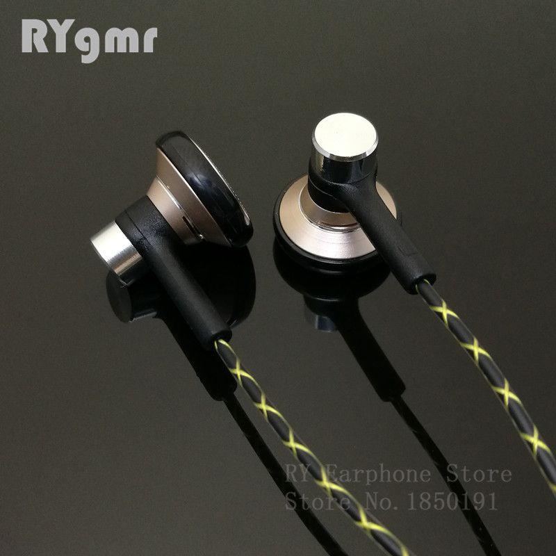 RY04 original dans l'oreille écouteur métal 15mm musique qualité son HIFI écouteur (câble de style IE800) 3.5mm stéréo écouteurs