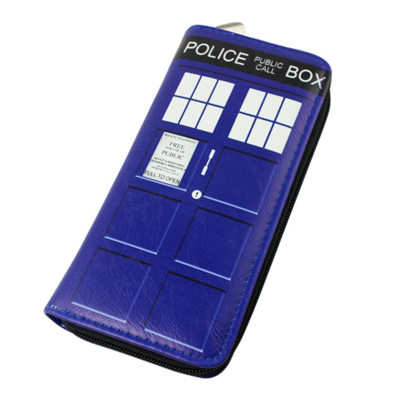 Doctor Who Wallet Dr Who PU Purse Toys Zipper Long Wallets Purses Tardis Cosplay Money bag gift Men Wallet Free Shipping