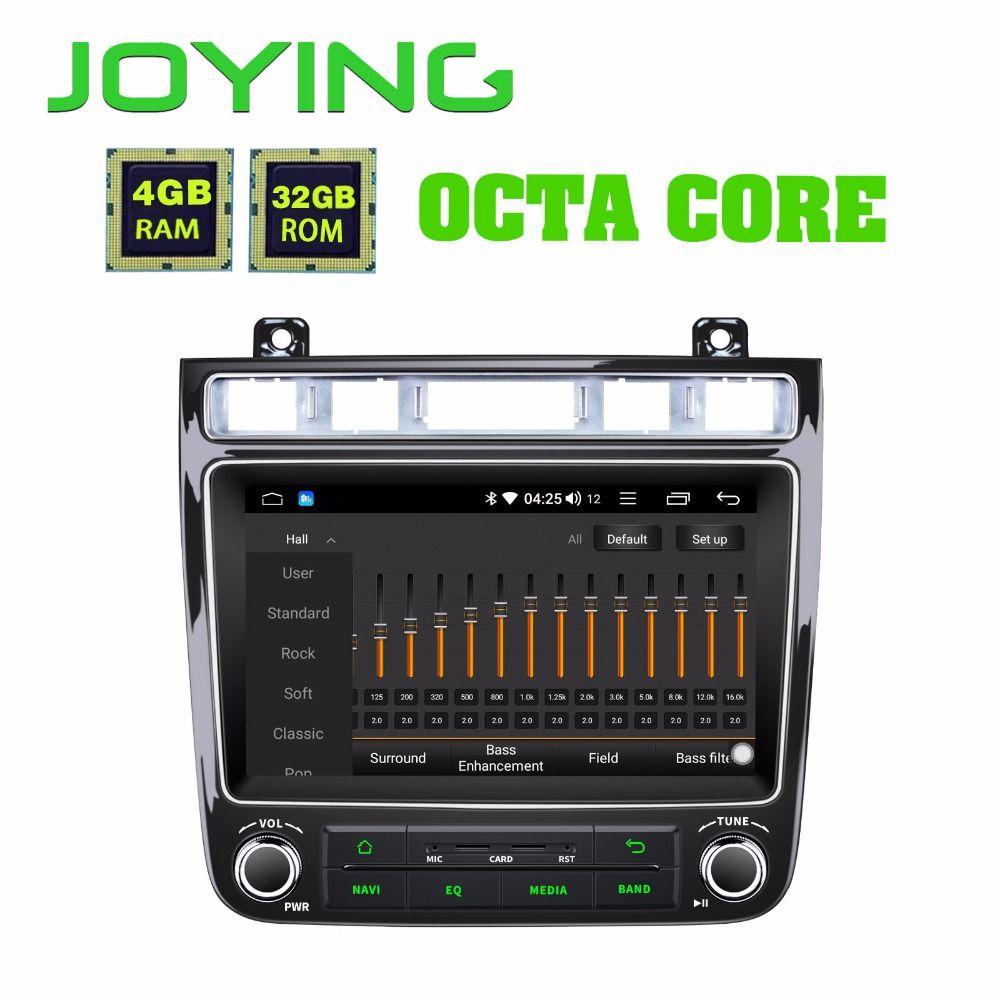 JOYING 8 GPS Android 8.1 Auto Radio Für VW touareg 4 GB Multimedia 1 Din-player auto audio BT DSP schnelle Boot Octa Core 2010-2017