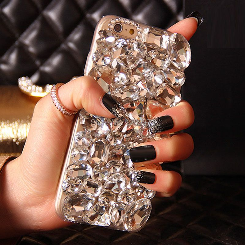 Dower Mich Bling Diamant Telefon Fall-abdeckung Für Iphone X 8 7 6 6 S Plus 5 5C 4 S Samsung Galaxy Note 8 5 4 3 2 S8/7/6 Rand Plus S5/4/3