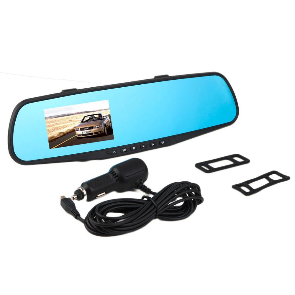 2.8 HD 720P Car Rearview Mirror Wide Angle DVR Car Camera Parking Night Vision Car DVR Camera Video Recorder