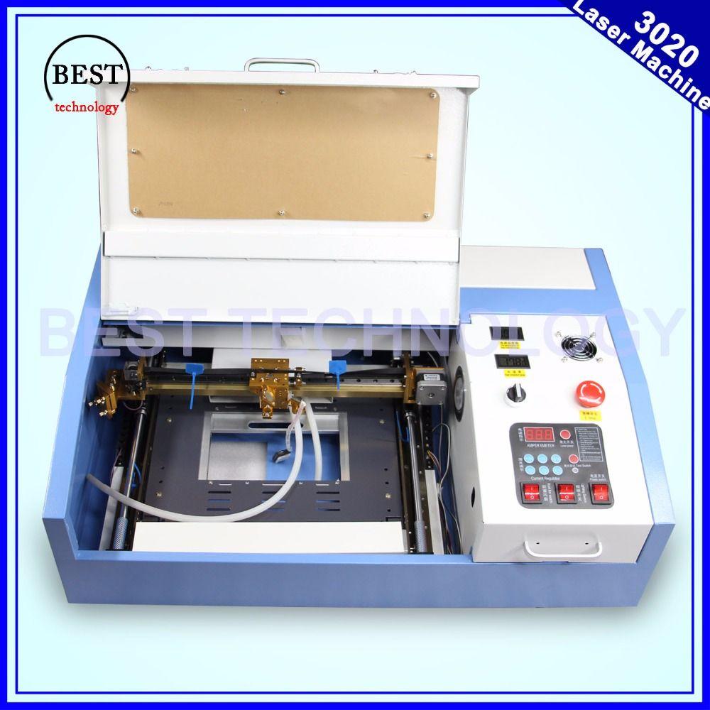 Hohe Qualität 110/220 V 40 Watt 200*300mm Mini CO2 Laser Engraver Gravur Schneidemaschine 3020 Laser mit USB Sport